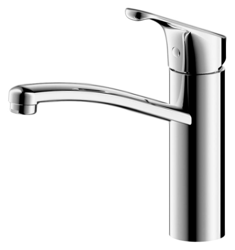 Common F7234129CP-RUS ХромСмесители<br>Смеситель для кухни Bravat Common F7234129CP-RUS, однорычажный.<br>Покрытие: хром.<br> Латунный корпус, цинковая ручка.<br> Керамический картридж Kerox 35 мм.<br>Аэратор Neoperl.<br> Расход воды: 8,3 л/мин при давлении 0,3 MPa.<br>Гибкая подводка G1/2, длиной 450 мм.<br>