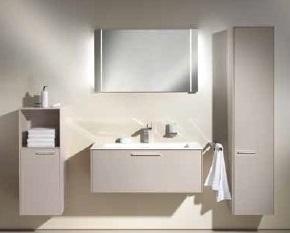 Royal 60  32141 450000 Белый глянецМебель для ванной<br>Keuco Royal 60 32141 210000  тумба под раковину. Выдвижной фронтальный ящик с доводчиком. Монтаж - настенный. В комплект поставки входит тумба под раковину.<br>