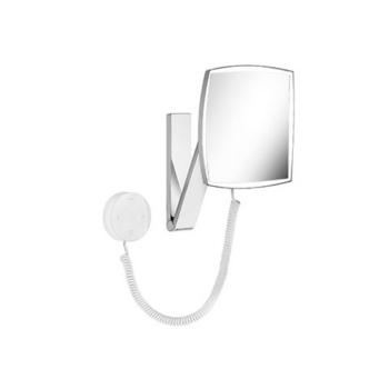iLook move 17613 019000 ХромАксессуары для ванной<br>Keuco iLook move 17613 019000 косметическое зеркало с подсветкой.  На кронштейне с шарниром, регулируется в трех плоскостях. Фактор увеличения x 5. Подсоединение к электропитанию через через встроенный в стену трансформатор (230 В ) и спиралевидный кабель (400 мм). Подсветка: 1 x 4,5 Вт светодиод. Расход в режиме ожидания: &lt; 0,5 Вт. Стеклянная сенсорная панель управления.<br>
