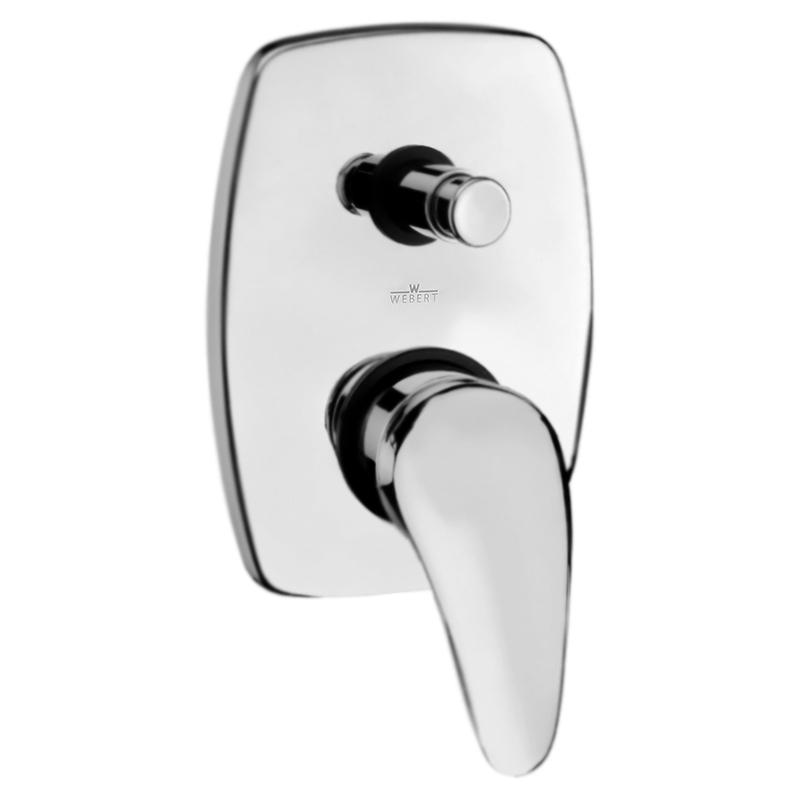 Sax SX860101 ХромСмесители<br>Смеситель для ванны Webert Sax SX860101015 однорычажный, встраиваемый, на одно отверстие, в комплекте с внутренней частью.<br><br>Покрытие: глянцевый хром.<br>Материал: качественная латунь с минимальным процентом свинца: <br>Защита от царапин, влаги и воздействия окружающей среды.<br>Состав материала соответствует международным нормам.<br>Автоматический переключатель (девиатор) душ/излив.<br>Керамический картридж 40 мм.<br>Картридж оснащен механизмом контроля потока воды и температуры.<br>Механическая настройка эксплуатационных параметров.<br>Стандарт подключения G1/2.<br><br>