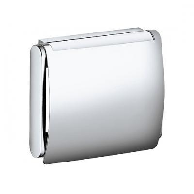 Plan 14960 010000 ХромАксессуары для ванной<br>Keuco Plan 14960 010000 держатель для туалетной бумаги, с крышкой. Для рулона шириной 100 мм. Монтаж - настенный.<br>