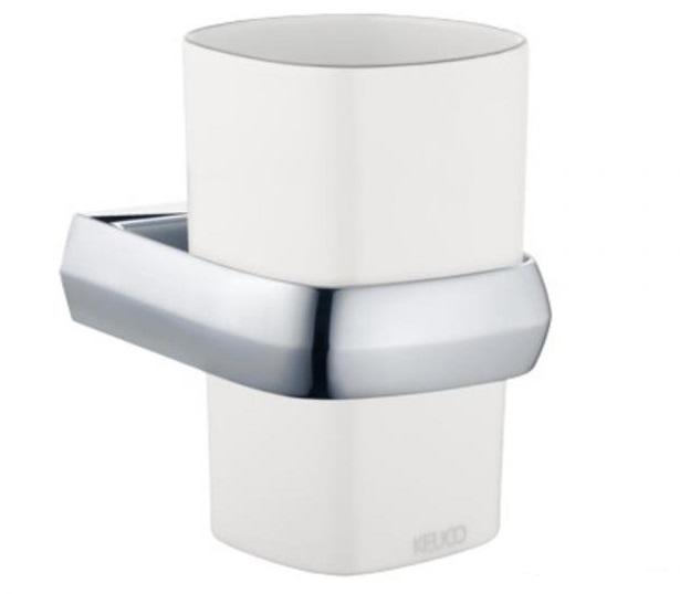 Edition Palais 40050 013000 БелыйАксессуары для ванной<br>Keuco Edition Palais  40050 013000  фарфоровый стакан для зубных щеток. Монтаж настенный.<br>