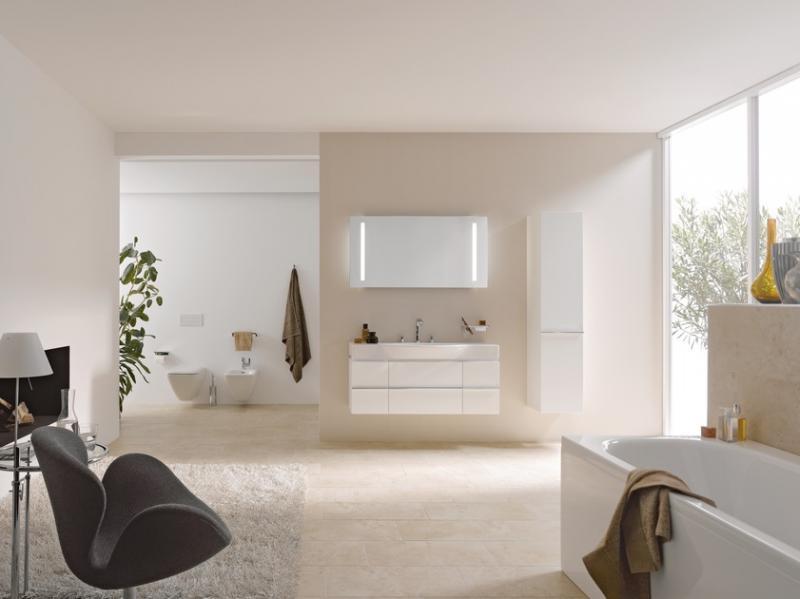 Palace New 4.0130.2.075.464.1 Белый глянецМебель для ванной<br>Тумба под раковину Laufen Palace 4.0130.2.075.464.1. 2 выдвижных ящика, 2 распашные дверки, цвет белый глянцевый.<br>
