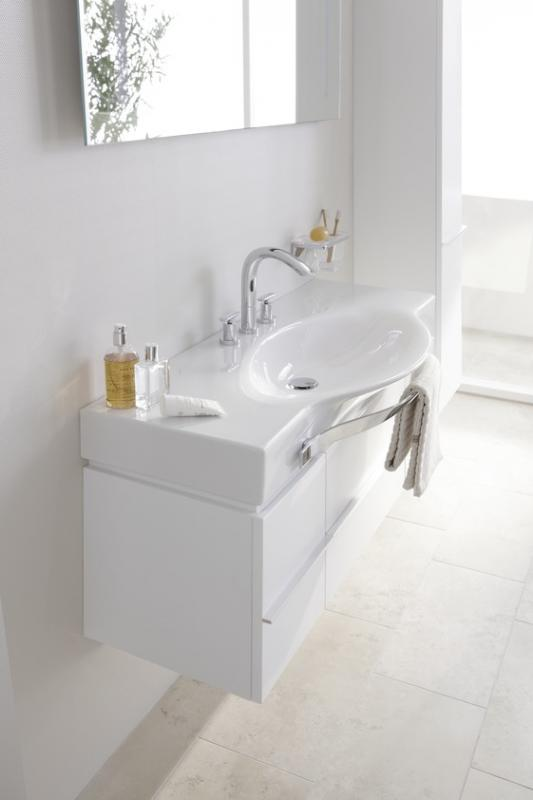 Palace New 4.0135.2.075.464.1 Белый глянецМебель для ванной<br>Тумба под раковину Laufen Palace 4.0135.2.075.464.1. 2 выдвижных ящика, 2 распашные дверки, цвет белый глянцевый.<br>