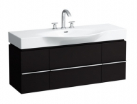 Palace New 4.0125.2.075.548.1 Дуб антроцитовыйМебель для ванной<br>Тумба под раковину Laufen Palace 4.0125.2.075.548.1, 2 выдвижных ящика, цвет – дуб антрацитовый.<br>