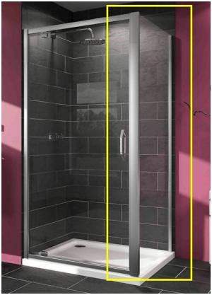 Боковая стенка Huppe Serie X1 900х1000х1900 140507.069.321 (120507.069.321) Глянцевый хром дверь в нишу huppe serie x1 900х900х1900 140303 069 321 120303 069 321 глянцевый хром