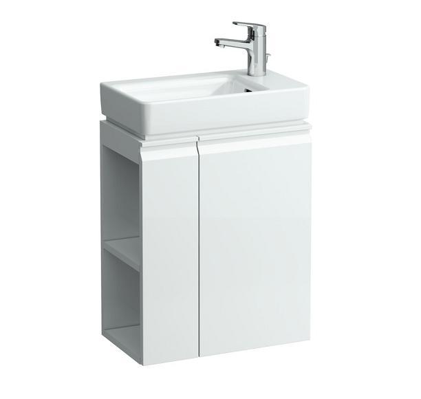 Pro New 4.8300.2.095.463.1 БелаяМебель для ванной<br>Тумба под раковину подвесная Laufen Pro New 4.8300.2.095.463.1, петли справа, полки слева. Цвет белый.<br>