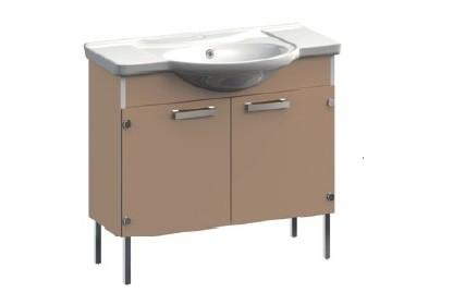 Dreja VR1-112-96 СиреневаяМебель для ванной<br>Тумба под раковину напольная на ножках Veronica Dreja VR1-112-96 с заглушками. В стоимость входит раковина Dreja. Цвет сиреневый.<br>