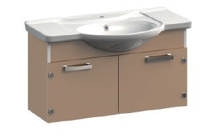 Dreja VR1-111-88 ЖелтаяМебель для ванной<br>Тумба под раковину подвесная Veronica Dreja VR1-111-88 с заглушками.  В стоимость входит раковина Dreja.  Цвет желтый.<br>