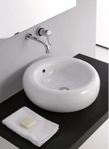 Privilege A103 БелаяРаковины<br>Nero Ceramica Privilege A103 раковина накладная.  накладная, круглая модель, без отверстия под смеситель, с переливом. Диаметр 50 см. <br>Устанавливается на столешницу. Смеситель в комплект не входит.<br>