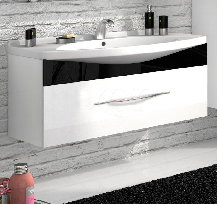 Лагуна 105 подвесная Категория 2Мебель для ванной<br>Тумба с раковиной 105 Box Lite (подвесная 2 ящика, один из них скрытый).  Раковина выполнена из литьевого мрамора, фасады - влагостойкий МДФ ламинированный пленкой ПВХ, фурнитура - tandembox Blum с встроенной системой мягкого закрывания.<br>