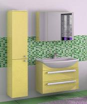 Альфа 75 Box Lite Категория 1Мебель для ванной<br>Тумба с раковиной 75 Box Lite (подвесная 2 ящика).  Раковина выполнена из литьевого мрамора, фасады - влагостойкий МДФ ламинированный пленкой ПВХ, фурнитура - tandembox Blum с встроенной системой мягкого закрывания.<br>