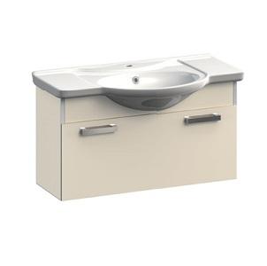 Dreja VR1-132-96 БелаяМебель для ванной<br>Тумба под раковину подвесная с ящиком Veronica Dreja VR1-132-96. Цвет белый.<br>