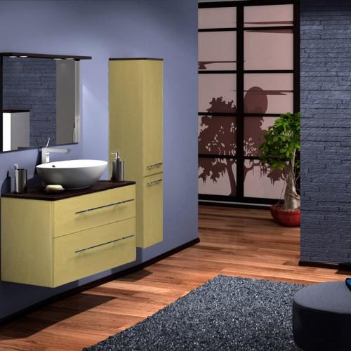 Гамма 85 Box Lite Категория 1Мебель для ванной<br>Тумба с раковиной 85 Box Lite (подвесная 2 ящика).  Раковина - сантехническая керамика, фасады - влагостойкий МДФ ламинированный пленкой ПВХ, фурнитура - tandembox Blum с встроенной системой мягкого закрывания.<br>