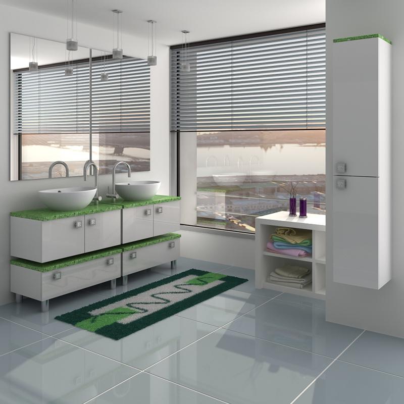 Гамма 85 module 1 Категория 2Мебель для ванной<br>Тумба с раковиной 85 module 1 (подвесная 1 ящик).  Раковина - сантехническая керамика, фасады - влагостойкий МДФ ламинированный пленкой ПВХ, фурнитура - tandembox Blum с встроенной системой мягкого закрывания.<br>