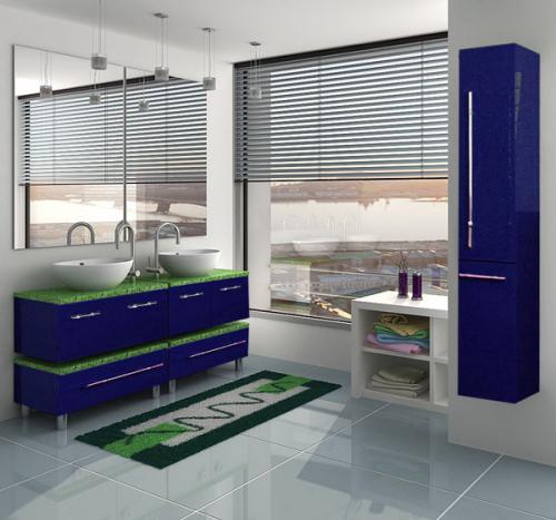 Гамма 85 module 2 Категория 1Мебель для ванной<br>Тумба с раковиной 85 module 2 (подвесная две двери).  Раковина - сантехническая керамика, фасады - влагостойкий МДФ ламинированный пленкой ПВХ, фурнитура - tandembox Blum с встроенной системой мягкого закрывания.<br>