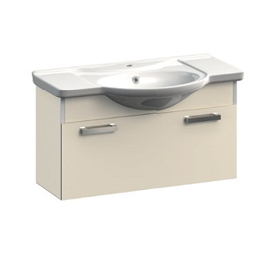 Dreja VR1-132-106 СераяМебель для ванной<br>Тумба под раковину подвесная с ящиком Veronica Dreja VR1-132-106. Цвет серый.<br>