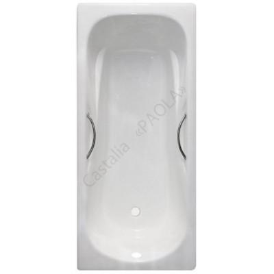 Чугунная ванна Castalia Paola 170х75 с ручками с антискользящим покрытием чугунная ванна castalia 150х70 с антискользящим покрытием