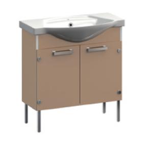 Ideal VR1-211-111 КоричневаяМебель для ванной<br>Тумба под раковину  напольная на ножках Veronica Ideal VR1-211-111 с заглушками. Цвет коричневый.<br>