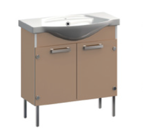 Ideal VR1-211-111 СераяМебель для ванной<br>Тумба под раковину  напольная на ножках Veronica Ideal VR1-211-111 с заглушками. Цвет серый.<br>