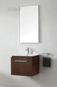 Т-14186 Грецкий орехМебель для ванной<br>Timo Т-14186 комплект мебели для ванной комнаты.  В комплект входит: подвесная тумба, раковина, зеркало. Двери тумбы оснащены системой плавного закрытия, зеркало имеет подсветку, которая включается с помощью сенсорного дисплея.<br>