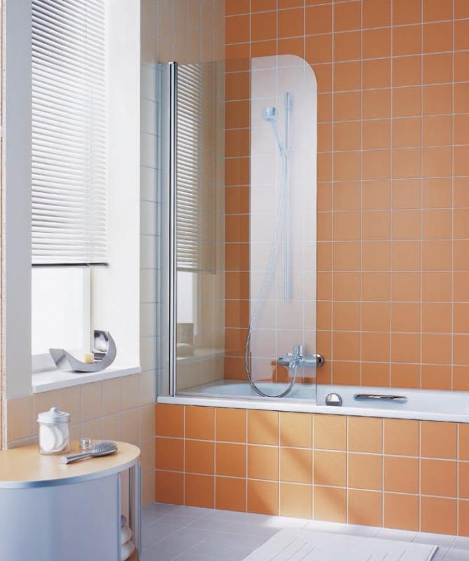 Штора на ванну Kermi Atea AT DFL 07515VAK