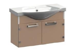 Ideal VR1-212-85 Голубой металлМебель для ванной<br>Тумба под раковину подвесная Veronica Ideal VR1-212-85 с заглушками. Цвет голубой металл.<br>