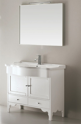 Federica 90 bianco decapeМебель для ванной<br>Тумба под раковину Eban Federica 90, цвет bianco decape. Ощущение мягкости, которое излучает мебель Eban, и неповторимый узор прожилок обеспечиваются благодаря обработке дерева, сохраняющей открытые поры.Такая отделка подчеркивает самые естественные характеристики дерева и его натуральность. Цена указана за тумбу. Все остальное приобретается дополнительно.<br>