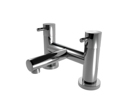EOBA0135 INX (Матовый никель)Смесители<br>Смеситель для раковины DIAMETROTRENTACINQUE EOBA0135 INX Двухсекционный смеситель установки на борт ванны (диаметр ручки 45мм). Цвет: матовый хром<br>