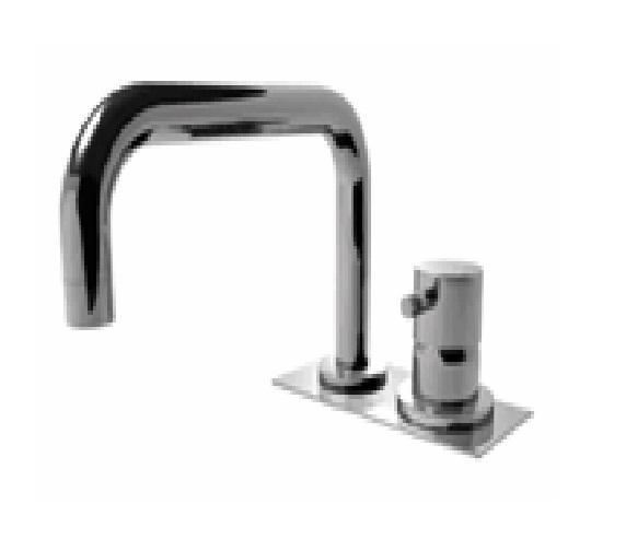 EOBA0430H1 INX (Матовый никель)Смесители<br>Смеситель для ванны DIAMETROTRENTACINQUE EOBA0430H1 INX двухсекционный смеситель для устанавливаемый на борт ванны с изливом 220мм, с декоративной панелью (диаметр ручки 45мм). Цвет: матовый хром.<br>