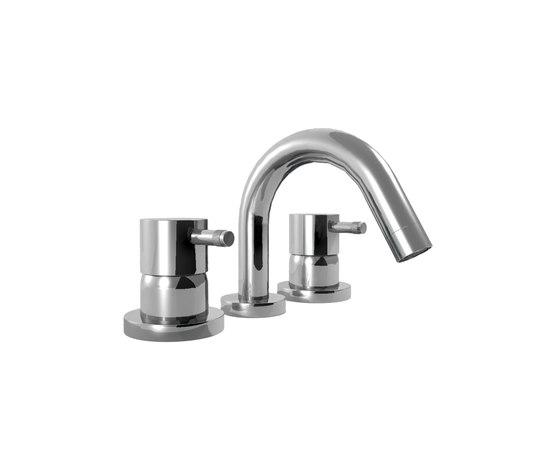 EOBA0433S/P INX (Матовый никель)Смесители<br>Смеситель для ванны DIAMETROTRENTACINQUE EOBA0433S/P INX трехсекционный смеситель для устанавливаемый на борт ванны с изливом 133 мм (диаметр ручки 45мм). Цвет: матовый никель.<br>