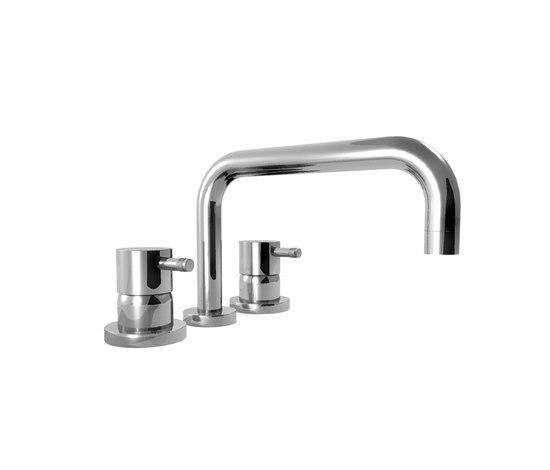 EOBA0433H1SP INX (Матовый никель)Смесители<br>Смеситель для ванны DIAMETROTRENTACINQUE EOBA0433H1SP INX трехсекционный смеситель для устанавливаемый на борт ванны, диаметр ручки 45мм. Цвет: матовый никель.<br>