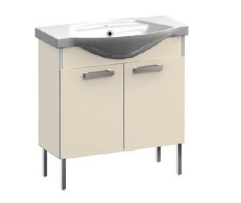 Ideal VR1-221-111 СераяМебель для ванной<br>Тумба под раковину напольная на ножках Veronica Ideal VR1-221-111. Цвет серый.<br>