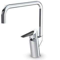 Optima 2733F ХромСмесители<br>Oras Optima 2733F смеситель для кухни. Керамический картридж, высокий излив с углом поворота 120° (угол поворота может быть ограничен до 60°), удобная пластиковая рукоятка, расход воды при давлении 3 бара 12 л/мин, подключение - гибкая подводка 3/8x350 мм.<br>