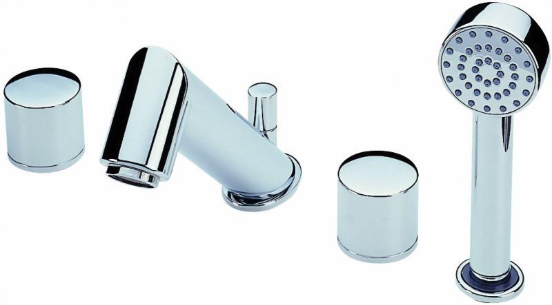 Alessi 8540 ХромСмесители<br>Oras  Alessi 8540 каскадный смеситель для ванны. Четырехсекционный, с отдельными ручками регулирования для холодной и горячей воды со стационарным изливом с переключателем, аэратором, душевым шлангом и ручным душем.<br>Запорный клапан: керамический картридж.<br>Форма излива традиционная.<br>Максимальный расход воды: 22.8 л/мин<br>Излив: длина 180 мм, высота 116 мм<br>Способ монтажа - горизонтальный, на борт ванны. <br>Количество монтажных отверстий: 4<br>Присоединительный размер: 1/2<br>