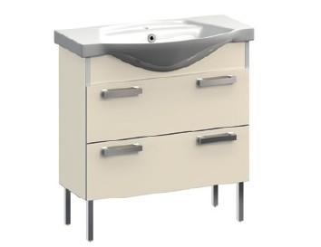 Ideal VR1-231-85 ЧернаяМебель для ванной<br>Тумба под раковину напольная на ножках Veronica Ideal VR1-231-85 с 2-мя ящиками. Цвет черный.<br>