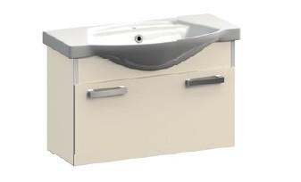 Ideal VR1-232-85  КоричневаяМебель для ванной<br>Тумба под раковину подвесная Veronica Ideal VR1-232-85 с ящиком. Цвет коричневый.<br>