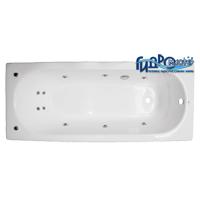 Goldman Comfort 150x70 ExclusiveВанны<br>Гидромастер  Goldman Comfort 150x70 чугунная гидромассажная ванна.  Гидромассаж 6 форсунок, аэромассаж 10 форсунок, система хромотерапии, поворотный электронный пульт управления с жидкокристаллическим информационным дисплеем, функция очистки системы продувкой, система защиты от сухого пуска, защита от перегрева, таймер.<br>