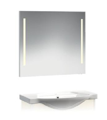 VR2-21-75 750 ммМебель для ванной<br>Зеркало-Люм Veronica VR2-21-75  с вертикальной подсветкой. Люминисцентная подсветка 2 лампы. Установлен блок «выключатель-розетка».<br>