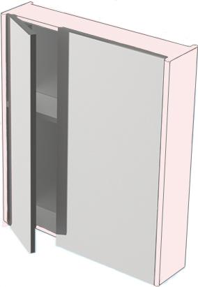 Зеркальный шкаф Astra Form Соло 60 Белый