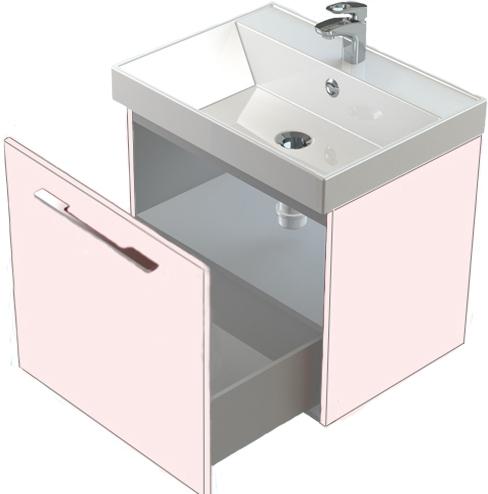 Соло 50 выдвижная дверца БелаяМебель для ванной<br>Тумба Astra Form Соло 50 подвесная с полкой.<br>
