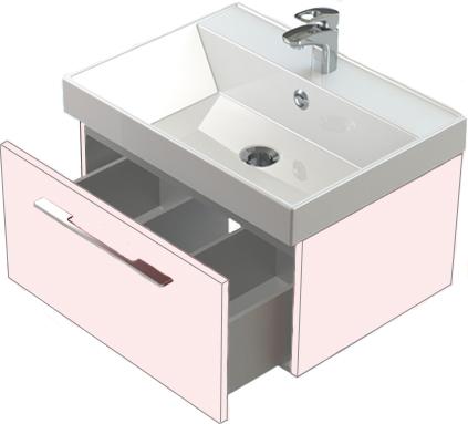 Соло 60 выдвижной щик БелаМебель дл ванной<br>Тумба Astra Form Соло 60 подвесна с 1 щиком.<br>