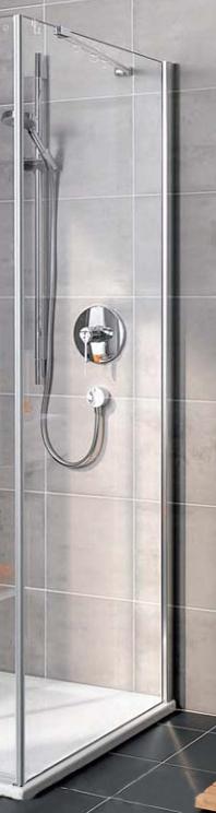 Gia GX TWL 09018VPK Серебро+klar+CleanДушевые ограждения<br>Боковая стенка Kermi Gia GX TWL 09018VPK. Профиль из высококачественного анодированного алюминия, прозрачное стекло.<br>