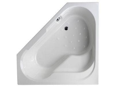 Bain Douche 145x145 E6222RU-00 145х145 леваяВанны<br>Ванна угловая Jacob Delafon Bain Douche E6222RU-00. Цвет белый. Большое пространство ванны, овальное дно.<br>