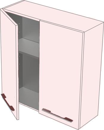 Соло 70 БелыйМебель для ванной<br>Навесной шкаф Astra Form Соло 70.<br>