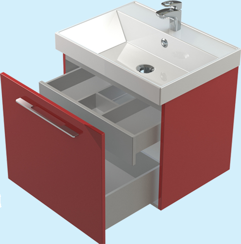 Соло 50 ЦВ RAL со скрытым ящиком цвет RALМебель для ванной<br>Тумба Astra Form Соло 50 подвесная с внутренним ящиком. Возможно исполнение в цветах по раскладке Ral.<br>
