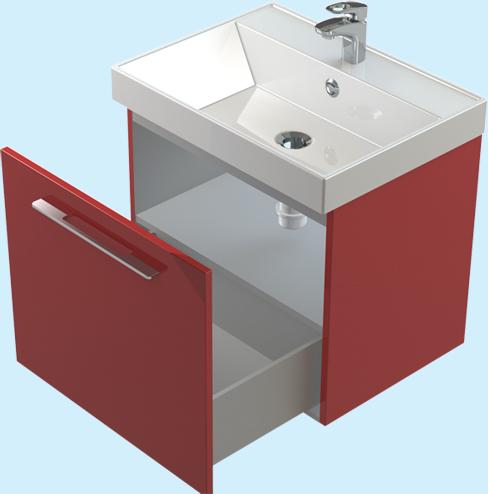 Соло 50 ЦВ RAL выдвижная дверца цвет RALМебель для ванной<br>Тумба Astra Form Соло 50 подвесная с полкой. Возможно исполнение в цветах по раскладке Ral.<br>