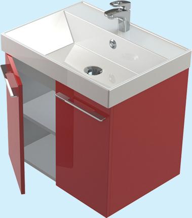 Соло 60 ЦВ RAL распашные дверцы цвет RALМебель для ванной<br>Тумба Astra Form Соло 60 подвесная с дверцами. Возможно исполнение в цветах по раскладке Ral.<br>