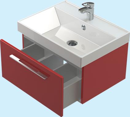Соло 70 ЦВ RAL выдвижной ящик цвет RALМебель для ванной<br>Тумба Astra Form Соло 70 подвесная с 1 ящиком. Возможно исполнение в цветах по раскладке Ral.<br>