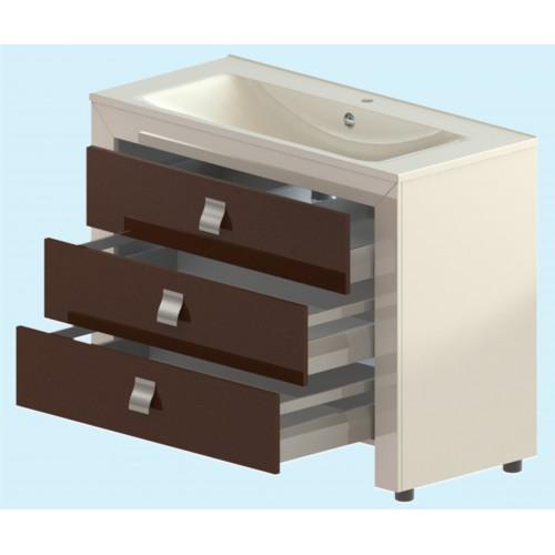 Лотус БелаяМебель для ванной<br>Тумба Лотус. В комплекте: фасады, ящики полного  выдвижения с  доводчиком, комплект  крепежа. Раковина приобретается отдельно.<br>